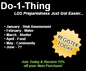 Do-1-Thing: LDS Emergency Preparedness
